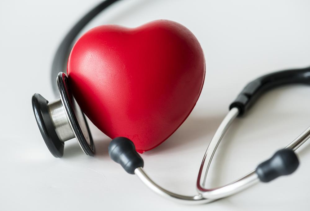 osłuchiwanie serca i stetoskop grafika